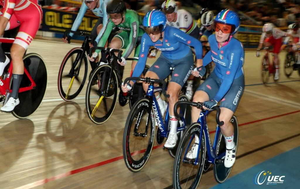 Maria Giulia Confalonieri e Letizia Paternoster- Campionati Europei di ciclismo su pista 2019