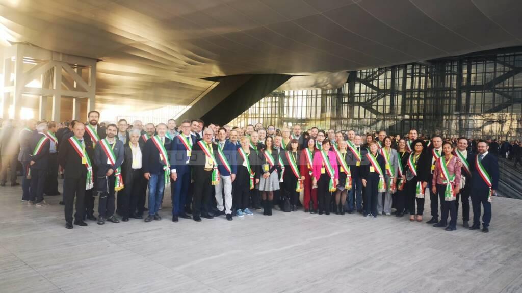 Poste Italiane, a Roma 80 sindaci bergamaschi con il premier Conte