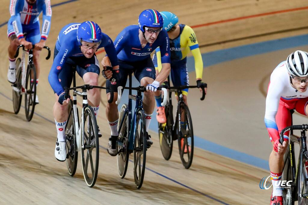 Simone Consonni e Elia Viviani - Campionati Europei di ciclismo su pista 2019