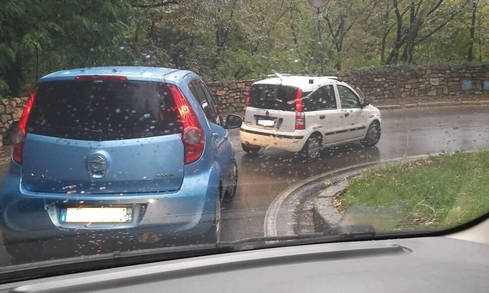 Traffico pioggia
