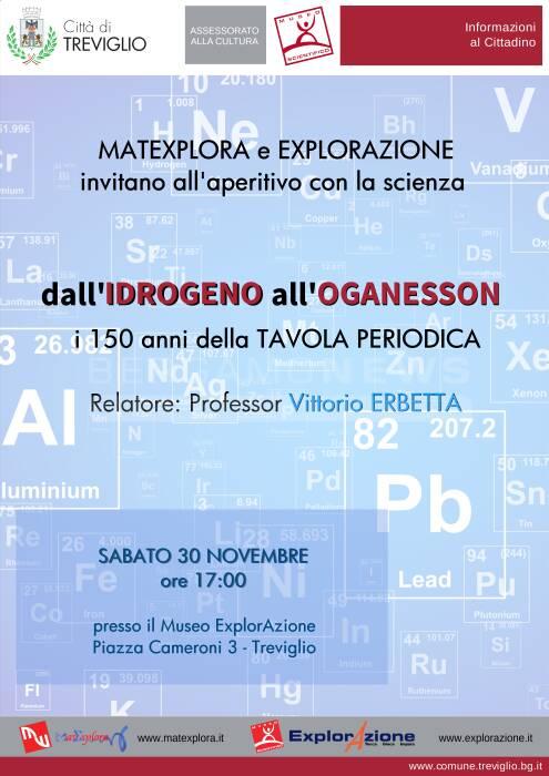 Dall\'idrogeno all\'Oganesson i 150 anni della tavola periodica