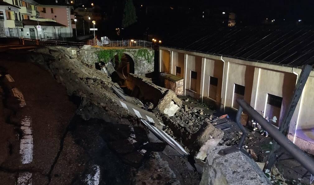 Crollo Piazza Brembana
