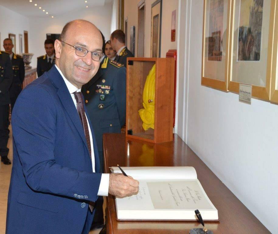 Il viceministro dell'Economia Misiani visita l'Accademia della Finanza