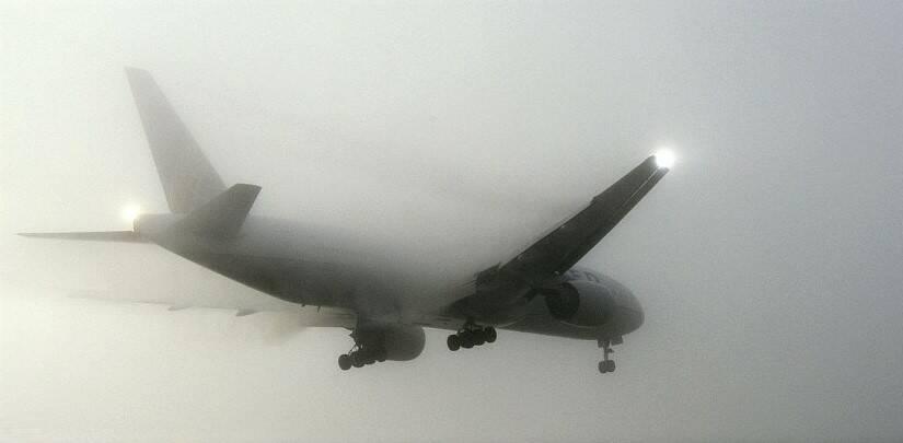 Aereo nebbia