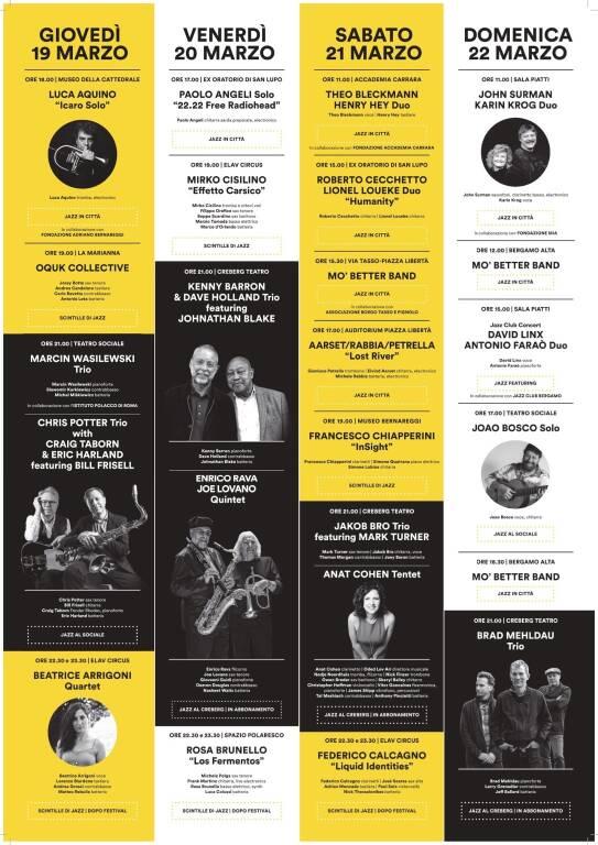 Bergamo Jazz Festival 2020 locandina