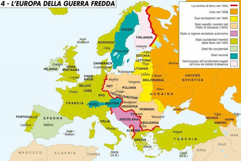 Cartina Politica Europa 1914.L Europa Della Guerra Fredda Divisa Tra Cee E Comecon Bergamo News