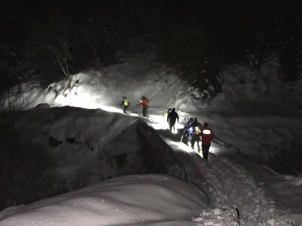Intervento soccorso alpino Valleve
