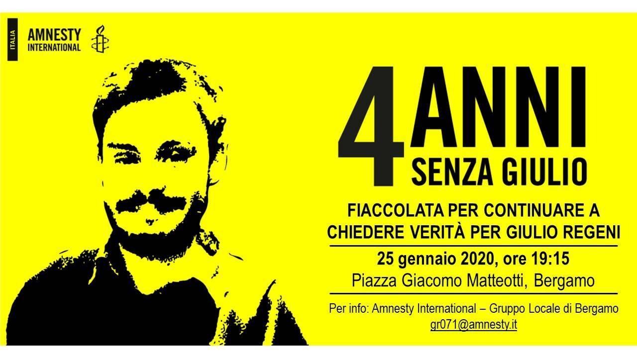 Firenze, fiaccolata per Giulio Regeni a quattro anni dalla sua scomparsa