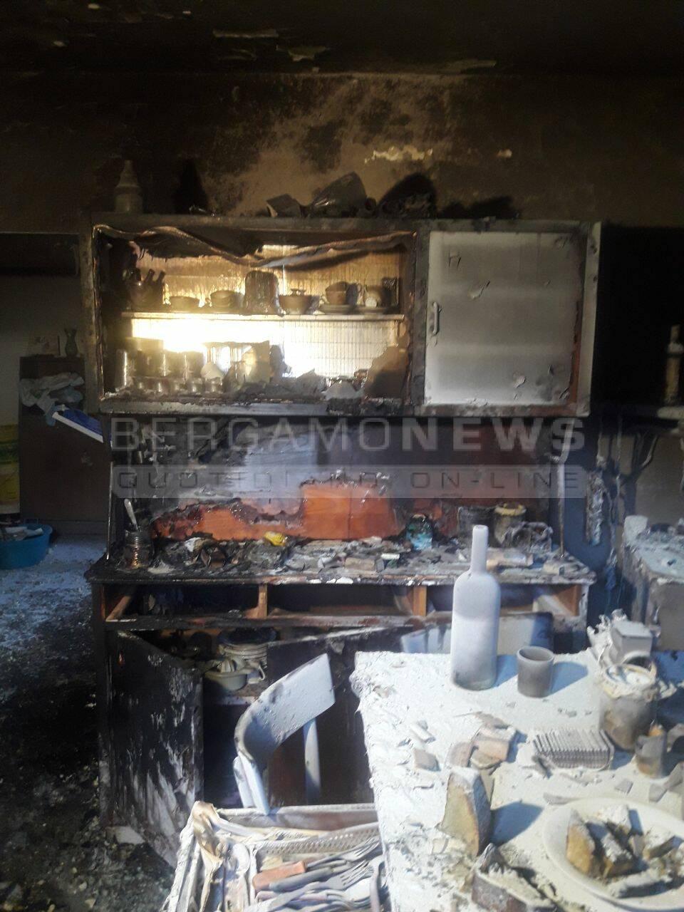 Incendio appartamento Valtorta
