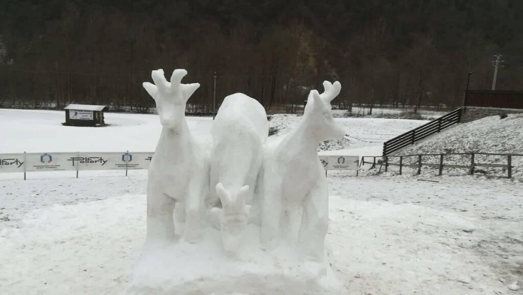 Sculture di neve Valbondione