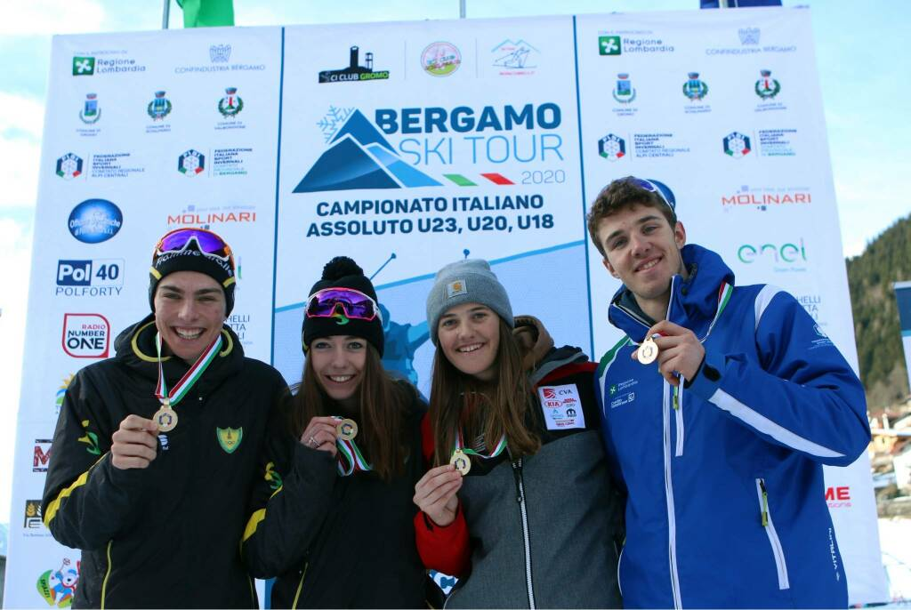 bergamo ski tour 2020 Elia Barp Nicole Monsorno Nadine Laurent francesco manzoni