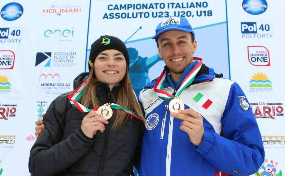 Francesco De Fabiani e Francesca Franchi - Bergamo Ski Tour 2020