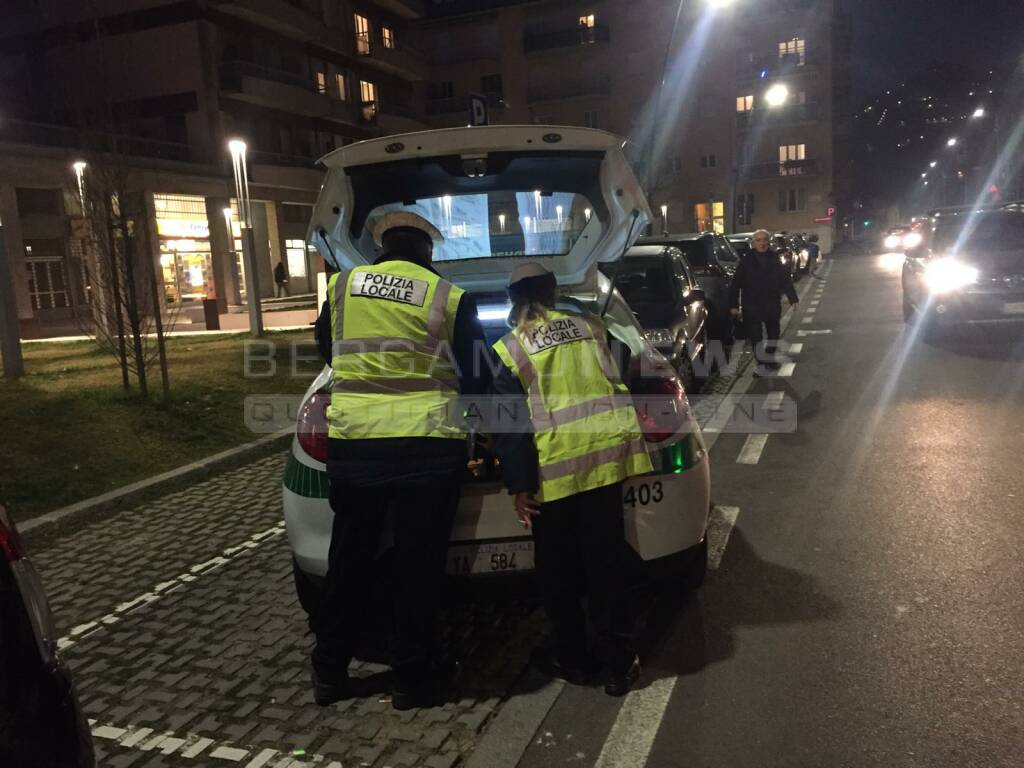 polizia locale bergamo incidente