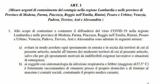 decreto lombardia