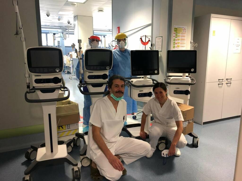 Ente Bilateriale del Terziario dona 4 ventilatori al Papa Giovanni