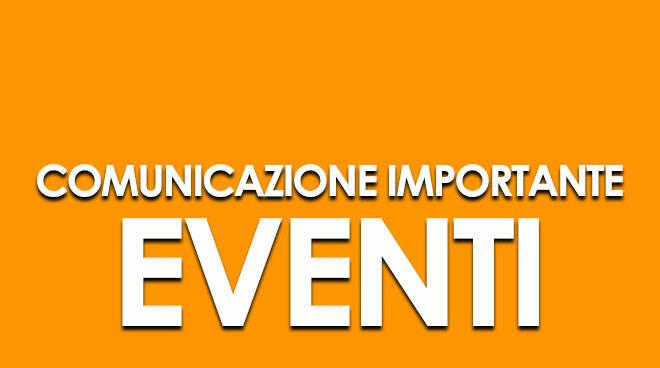 Eventi: comunicazione importante
