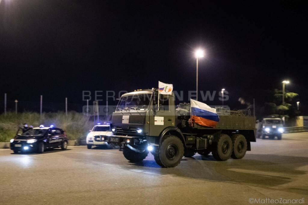 L'arrivo dei medici russi a Bergamo