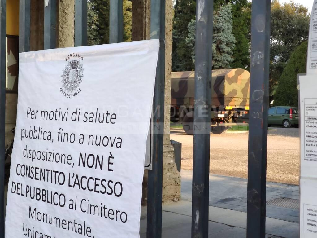 L'esercito torna a Bergamo per portare salme fuori città