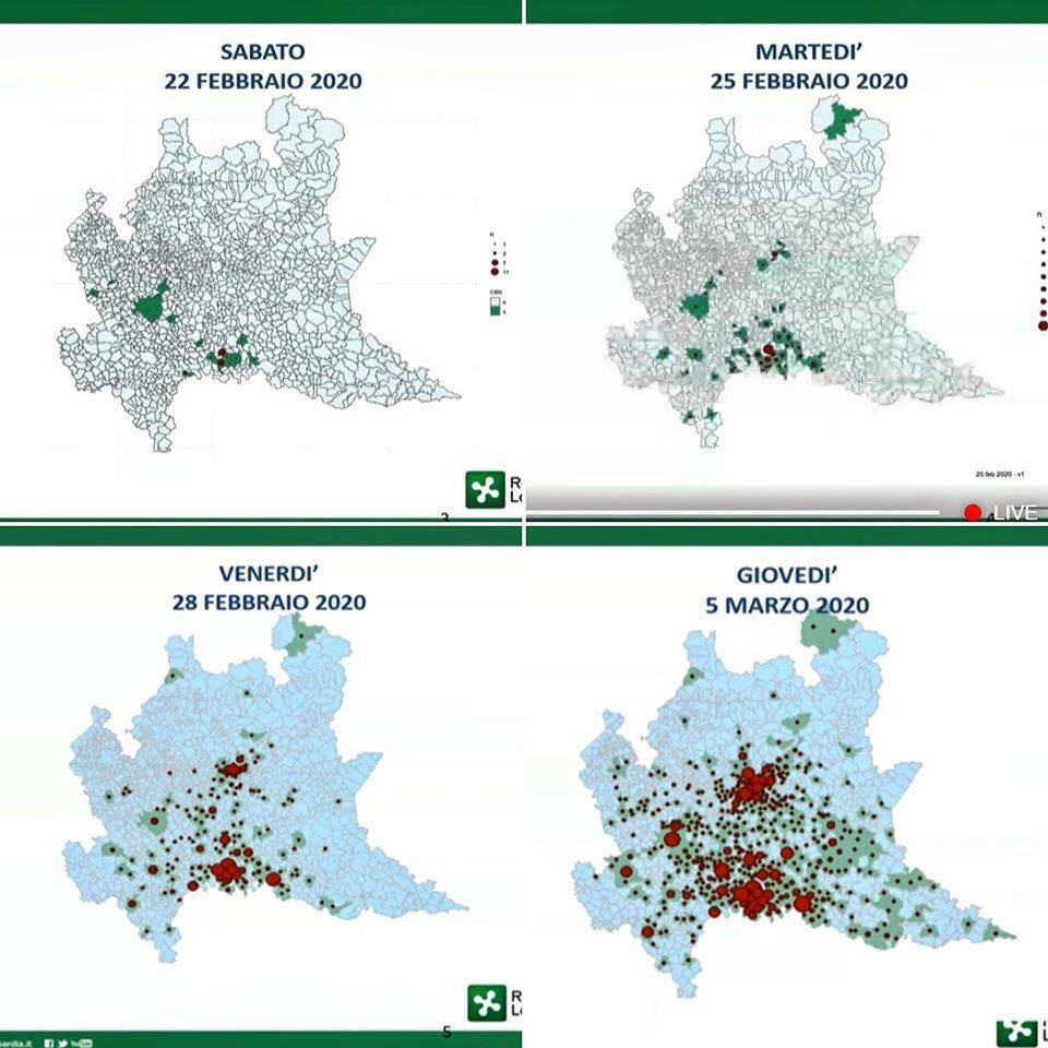 mappa contagio coronavirus lombardia