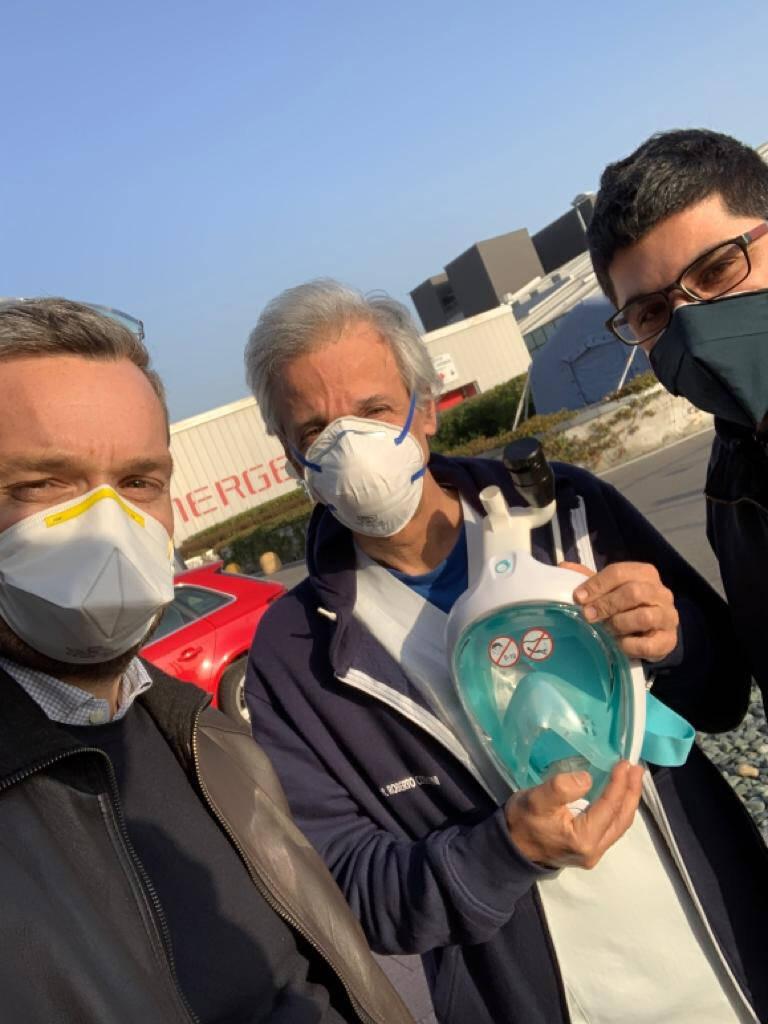 maschere da sub modificate in maschere per respiratori