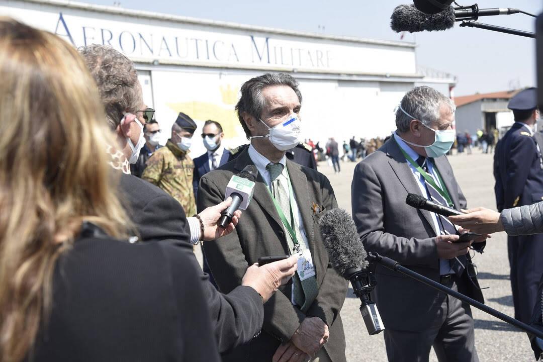 Coronavirus, Fontana accoglie 73 medici inviati da Protezione civile