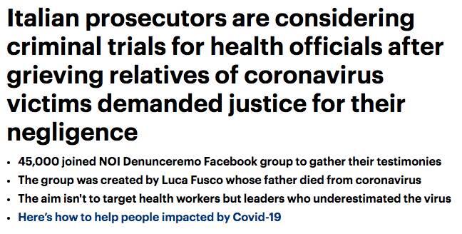 giornali esteri coronavirus