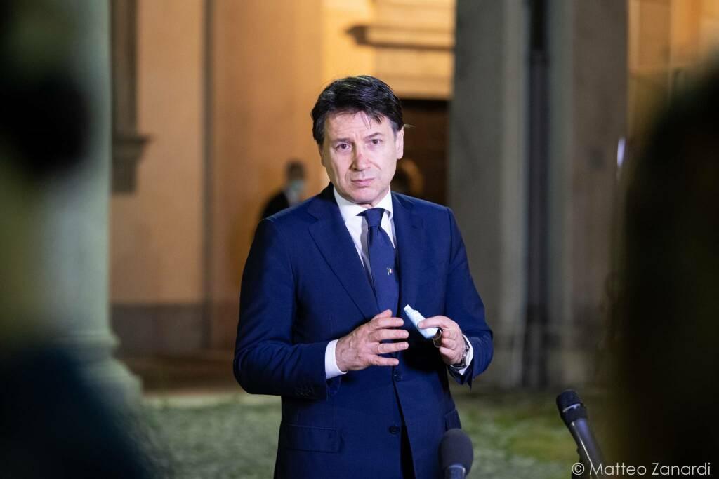 Giuseppe Conte in Prefettura a Bergamo