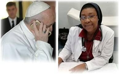 Papa e suor Angel Bipendu