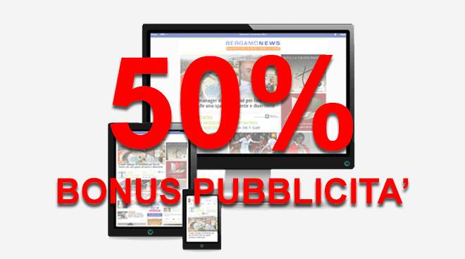bonus pubblicità 50%