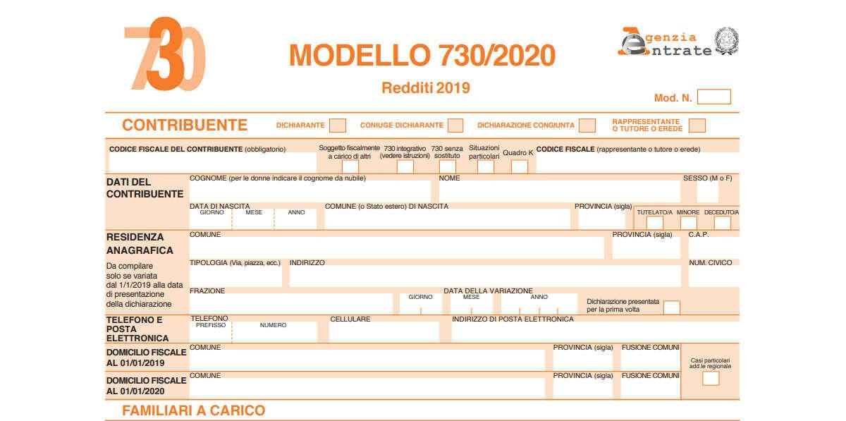 dichiarazione redditi 2020 precompilata