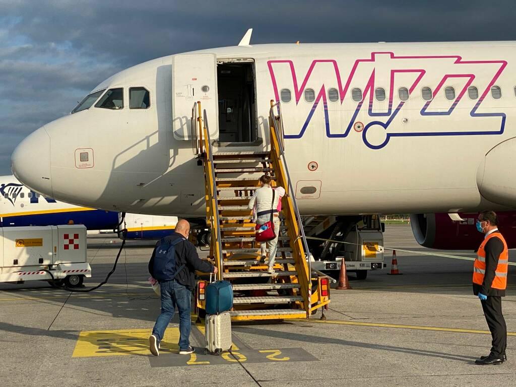 Primo volo a Orio al Serio dopo il lockdown
