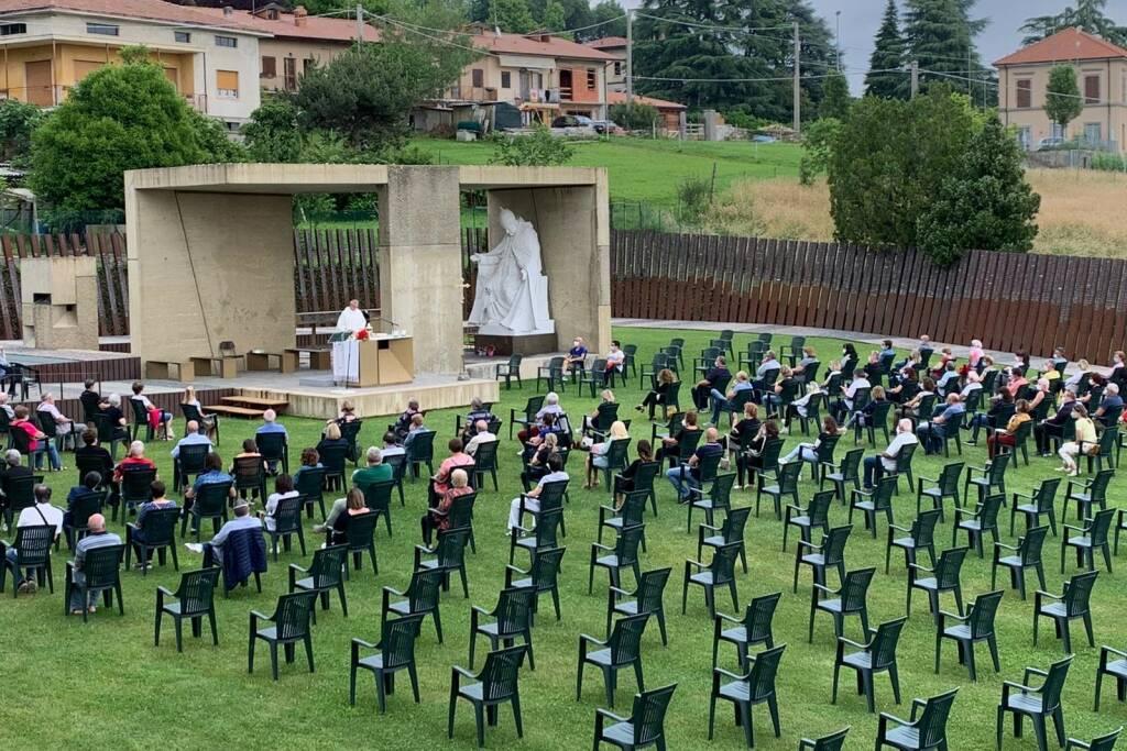 Riapre il Santuario Sotto il Monte Giovanni XXIII: prima messa con i fedeli