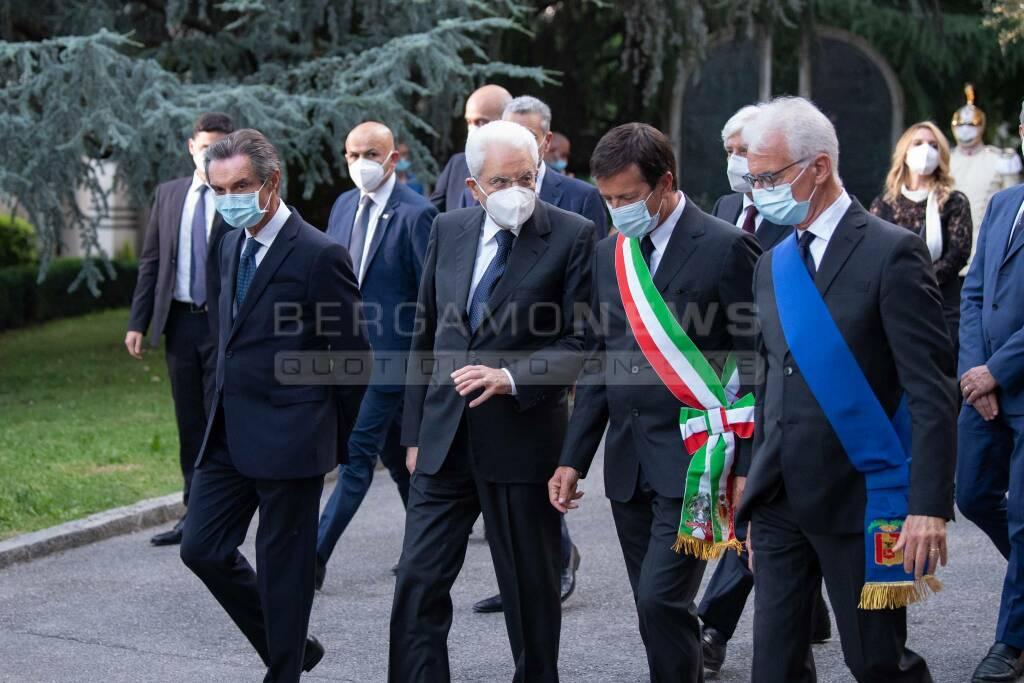 Bergamo, l'arrivo di Mattarella per il ricordo delle vittime Covid