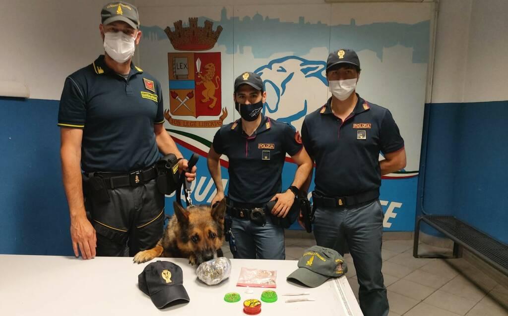 Polizia cane Bastian marijuana