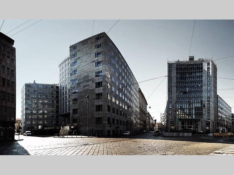 Vista complessiva dei due palazzi Montecatini [Foto di Stefano Ruzzante]