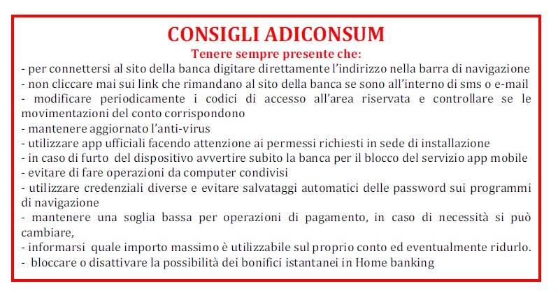 Consigli Adiconsum truffe online