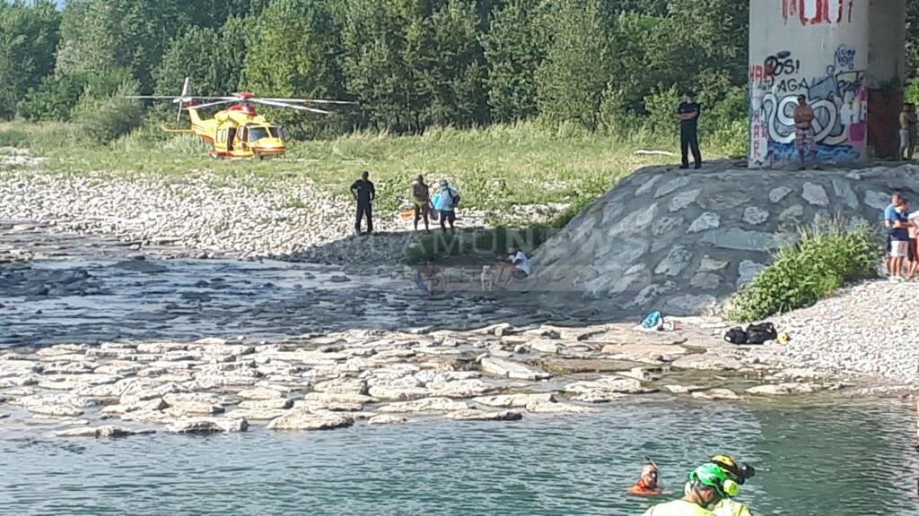 Bonate Sotto, ragazzino recuperato nel fiume Brembo