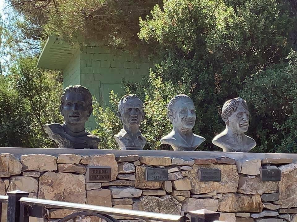 Inaugurazione busto Felice Gimondi - Capo Berta