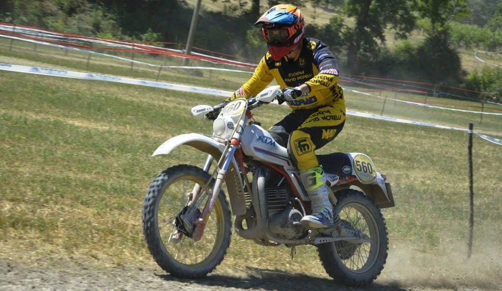 01 - Paolo Giulietti, 1° classificato nella classe D6 oltre 250 cc 2T, su KTM 495 del 1981.
