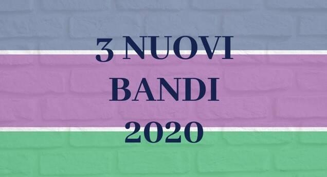 3 nuovi bandi territoriali 2020