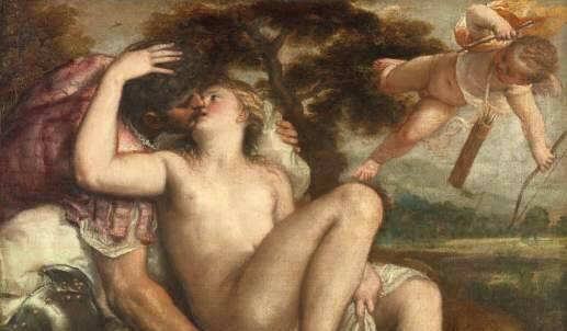 """capolavoro di Tiziano """"Marte, Venere e Amore"""""""