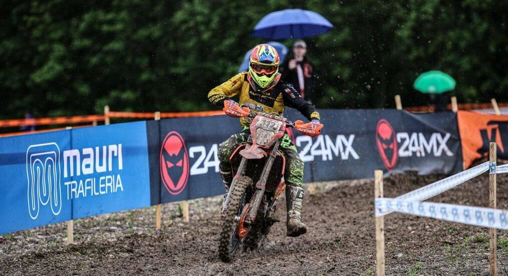 Carmelo Mazzoleni, campione italiano in carica, 1° nella classe Expert 300 su KTM 300 cc 2T