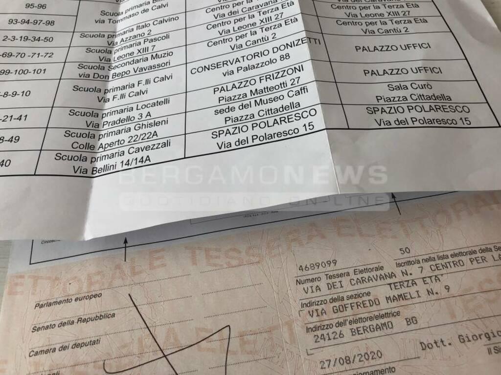Etichetta seggi voto