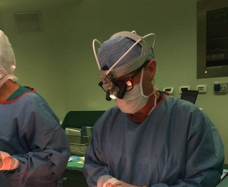 Amedeo Terzi attende la ripresa della funzione cardiaca del trapianto numero 1000