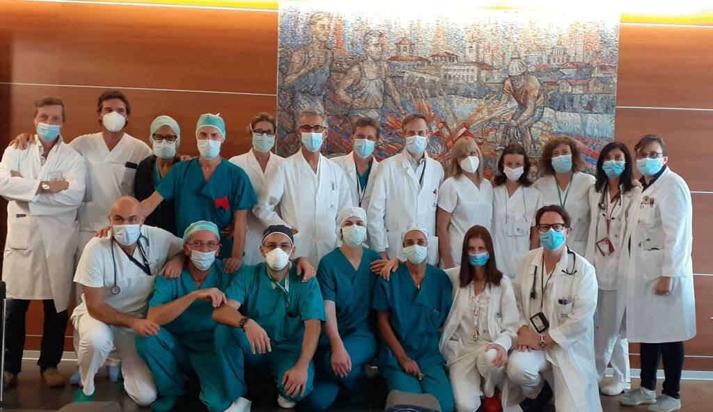 Equipe del Dipartimento cardiovascolare che segue i trapianti