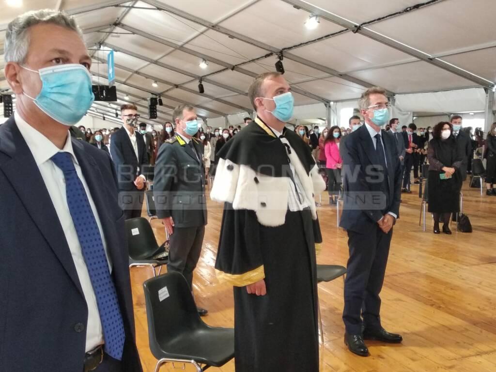 Il ministro Manfredi a Bergamo