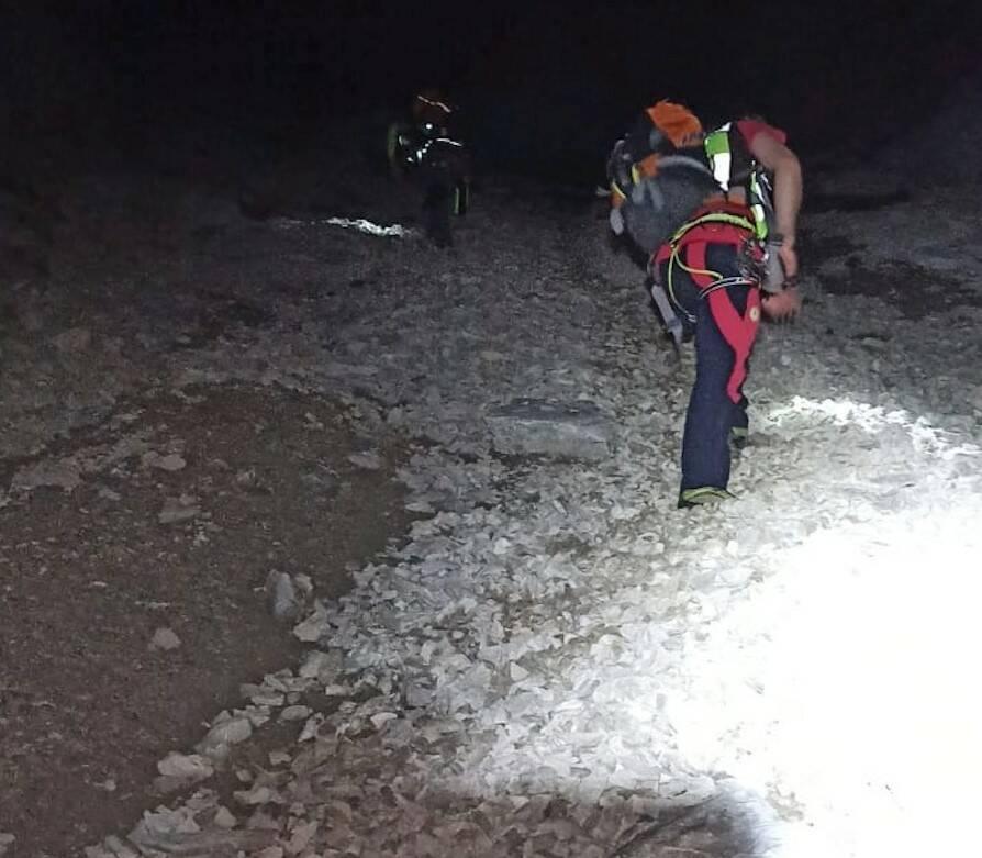soccorso alpino notturno pizzo arera