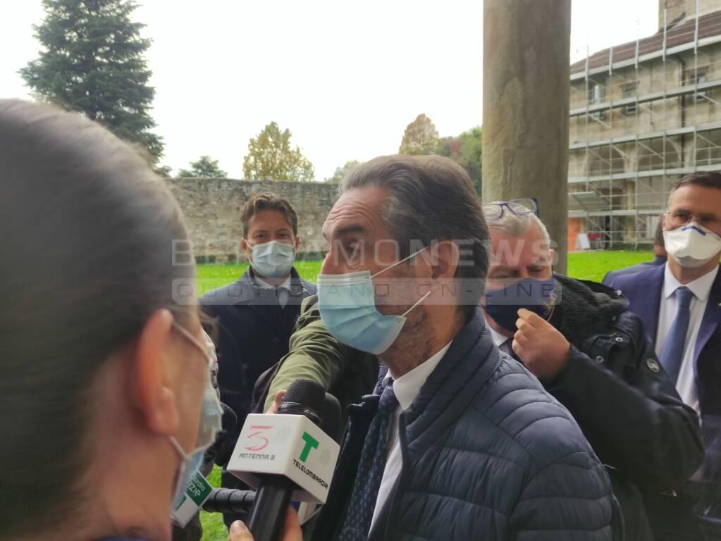 Attilio Fontana a Bergamo