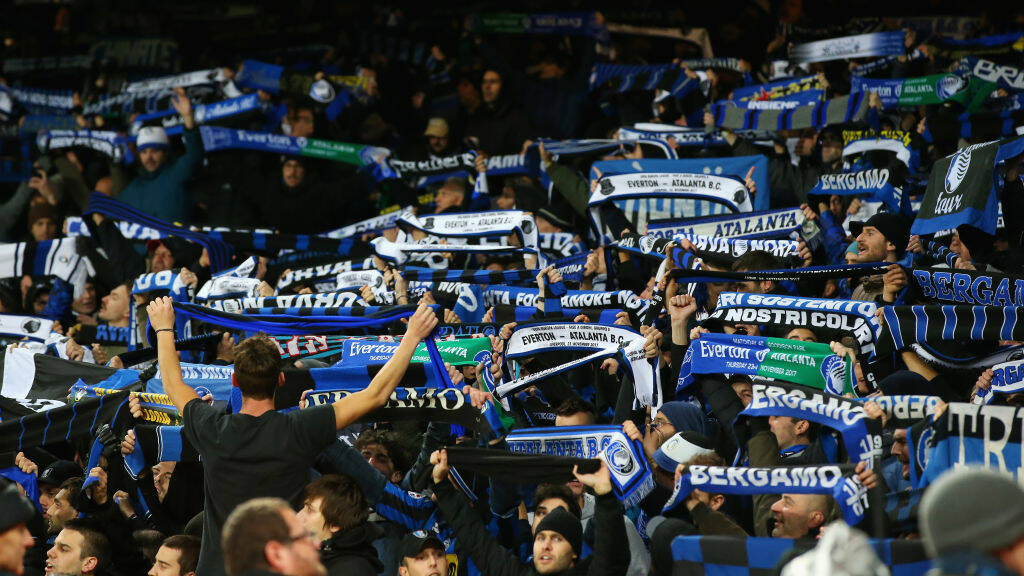 Everton-Atalanta tifosi