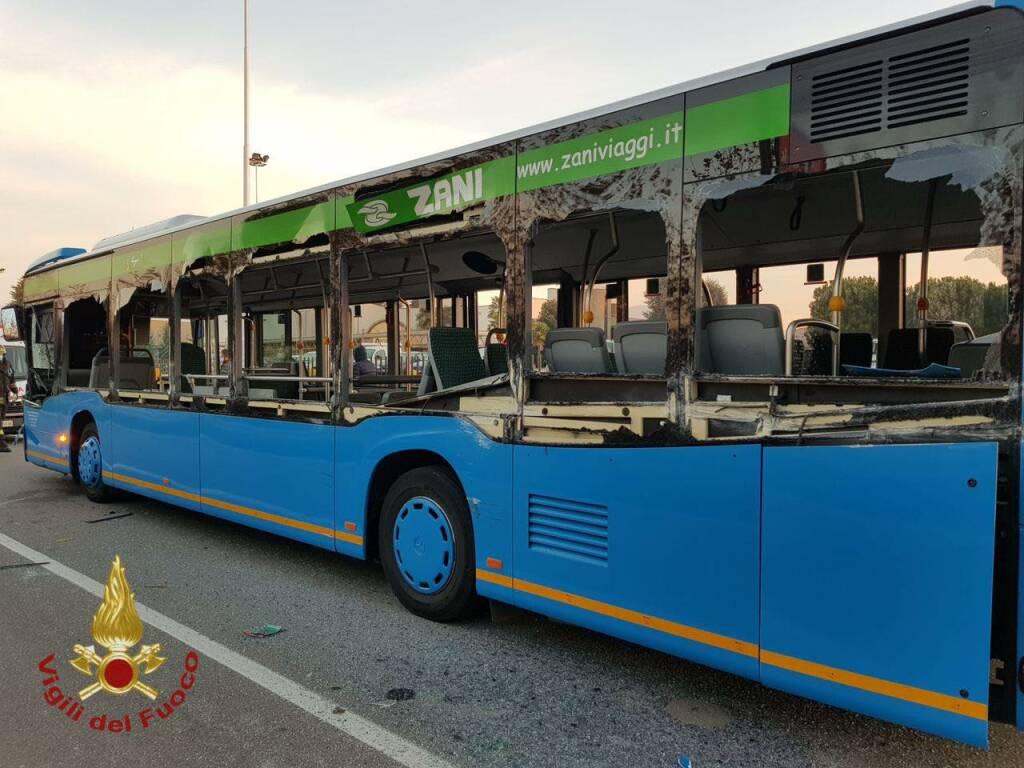 Incidente pullman studenti a Seriate